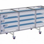 Cooling, overlapped conveyors, adjustable speed and 400V fan