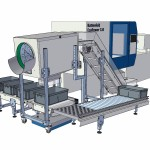 Buffer for packing industry with separation and weight system